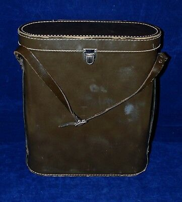 Vintage Aladdin Stanley Double Thermos Lunch Box Picnic Leather Case ONLY