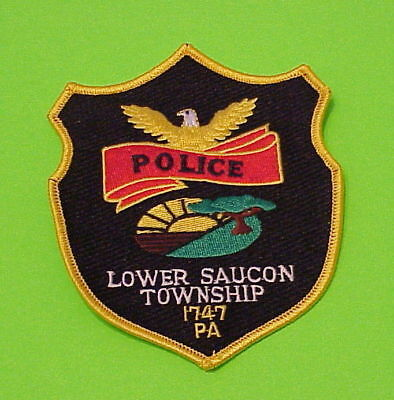 Lower Saucon  Pennsylvania  1747  Pa   Police Dept. Patch  Free Shipping!!!