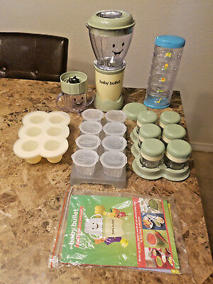 Magic Baby Bullet Plus Lot of Extra Storage Containers Food Blender Bundle