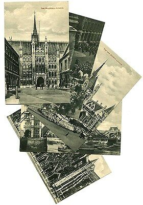 Lot of 5 London, England Postcards