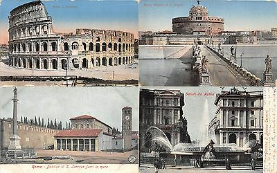 Lot of 18 Early / Vintage Italy Scenes Color Toned Postcards #103932 R