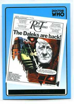 Doctor Who Radio Times Cover Card - R9 - Jan 1-7 1972