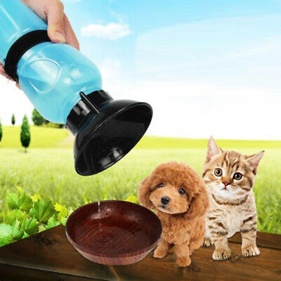 Travel Outdoor Water Bottle Portable Outdoor Drinking Cup For Dog Cat Blue/Pink