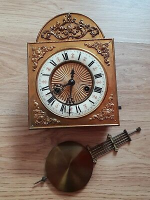 Beautiful Gustav Becker  Vienna clock movement, enamel dial and pendulum.