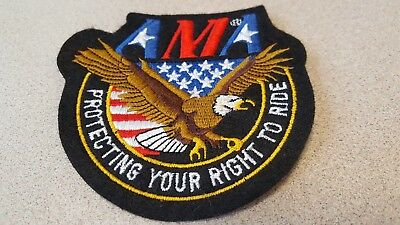 AMA Protecting Your Right to Ride Patch-Small