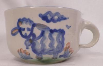 M A Hadley Lamb Coffee Cup Only Tea Stoneware Vintage Country Scenes #4