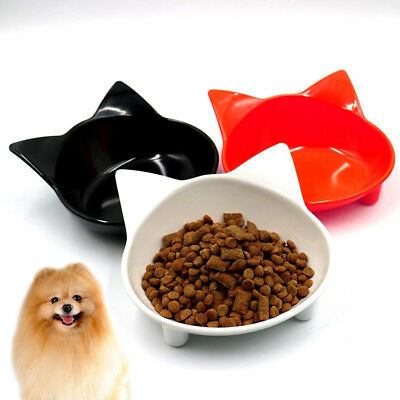 Cute Cat Shape Pet Feeder Bowl Water Drinking Bowl Food Container Dish Anti-slip