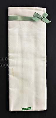 antique PURE IRISH LINEN DAMASK white nos TABLECLOTH ireland country celtic