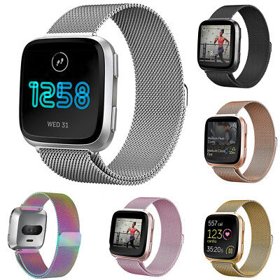 Replacement Watch Strap Band Metal Buckle Magnet Wristband For FitBit versa