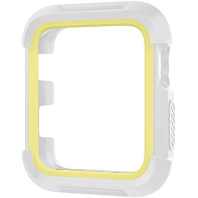 Shock Proof Protective Rugged Case For Apple Watch 38mm Series 321 Silver-Yellow