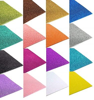 "Glitter EVA Foam Sheets Arts and Crafts, 12""x18"" 2MM, 10-Piece"