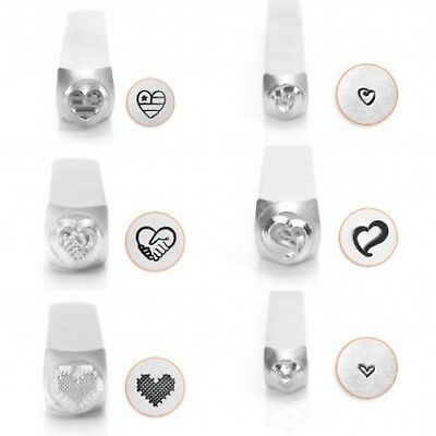 Metal stamp, punch, jewellery stamping, HEART designs