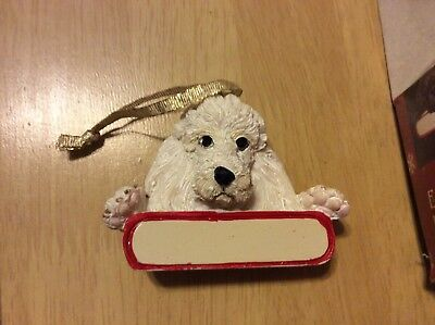 E&S IMPORTS Christmas Pet Lover POODLE Dog Ornament U Personalize It!