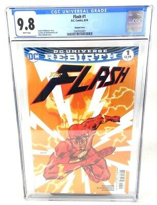 Flash Rebirth #1 Variant Cover CGC 9.8