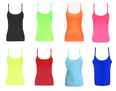 Girls Childrens Lycra Dance Wear Club Stretchy Microfiber Vests Kids Top Yoga