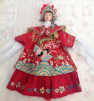 Traditional Chinese Opera Empress, Princess, Queen Hand Puppet Doll Beautiful
