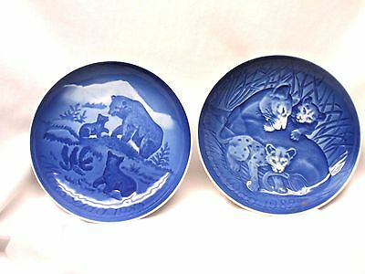 Lot of 2 Bing & Grondahl Copenhagen Mother's Day Plates - 1982 & 1985