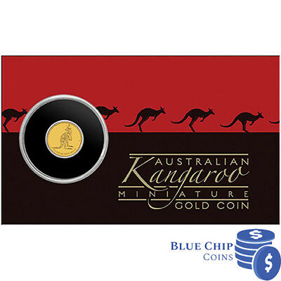 2016 Bunc $2 Kangaroo Miniature Gold Coin In Capsule On Card