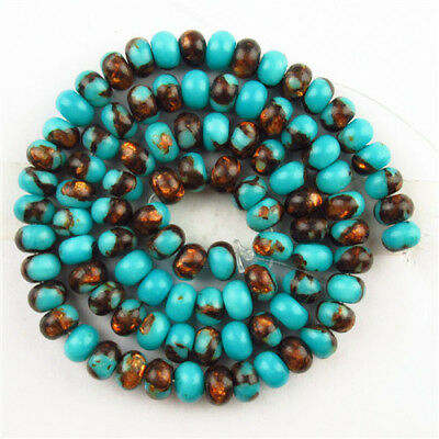1 Strand Blue Gold Copper Bornite Stone Rondelle Loose Bead 15.5inch D18073104