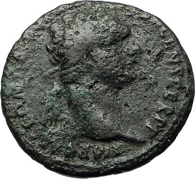 DOMITIAN Authentic Ancient 86AD Rome Genuine Original Roman Coin FORTUNA i71090