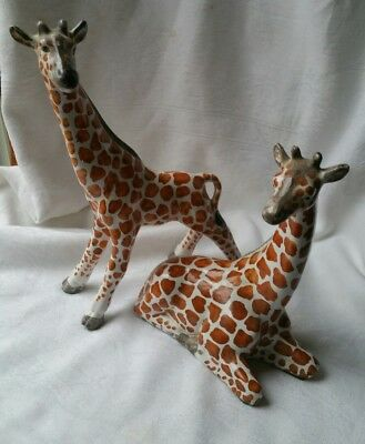 Vintage Figurines Giraff Pair Made In Italy Retro Collectable Mid Century? Rare