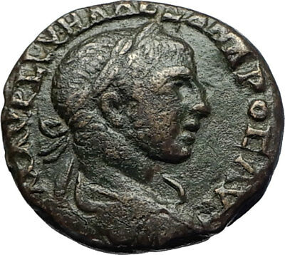 SEVERUS ALEXANDER Authentic Ancient Nicaea Bithynia Roman Coin STANDARDS i71093