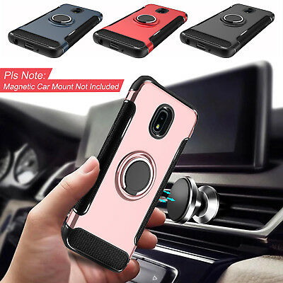 For Samsung Galaxy J7 Crown/Refine/Star Shockproof Case With Ring Stand Holder