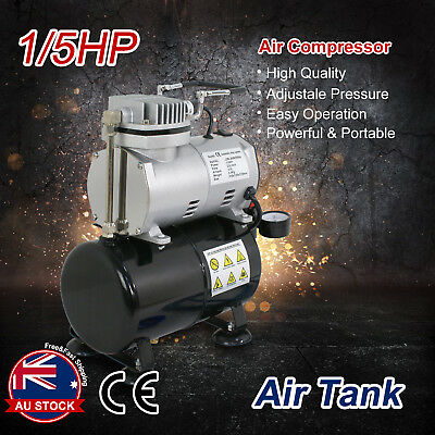 1/5HP Air Compressor with Tank for Air Brush Spray Gun Nail Art Make Up Tattoo L