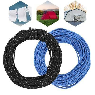 2.5MM Reflective Camping Tarp Tent Rope Runners Guy Line Cord Paracord 15M ZH