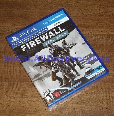 Firewall: Zero Hour VR (PlayStation 4 PSVR) BRAND NEW & FACTORY SEALED!!!! ps4 0