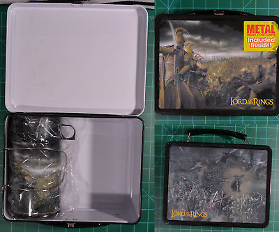 Lord of the Rings 2002 Meca Metal Lunch Box With Metal Thermos Still Sealed