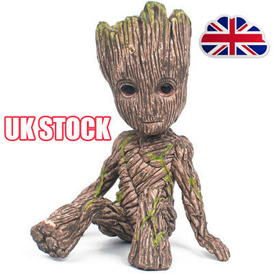 Guardians of The Galaxy Baby Groot Figure Flowerpot Pen Pot Toy Gifts 6CM  Y8