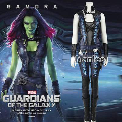 Guardians of the Galaxy Gamora Cosplay Costume Jumpsuit Halloween Women Outfits