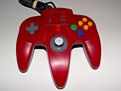 ASCII Nintendo 64 N64 Red Grey Controller Refurbed Toggle