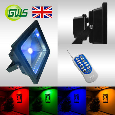 Colour Changing RGB LED Flood Light Red Green Blue Amber Magenta Multi Colour