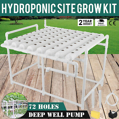 Hydroponic Grow Kit 72 Sites 8 Pipes Vegetable Gardening Melons Garden System