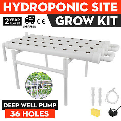 Hydroponic Grow Kit 36 Sites 4 Pipes Ebb Flow High-Quality Efficient GOOD