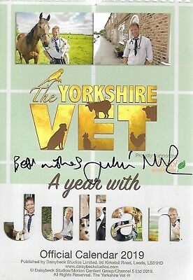 The Yorkshire Vet A Year With Julian Official Calendar 2019 Signed By Julian