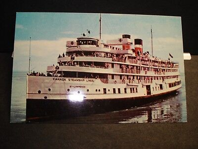 Steamship St. LAWRENCE, Canada Steamship Lines Naval Cover unused postcard