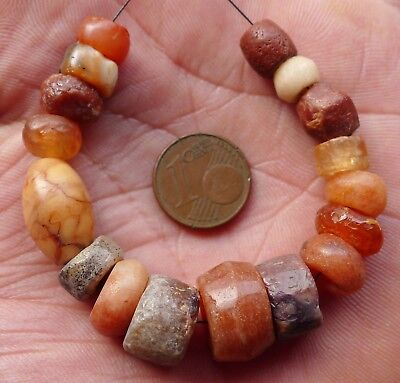 0 9/16in Beads Antique Africa Sahara Ancient Neolithic Agate Carnelian