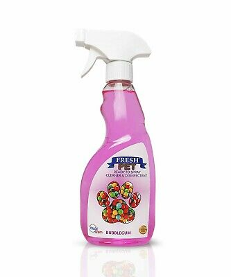 Fresh Pet Ready to Spray Cleaner Paw Friendly Disinfectant - 500ml Bubblegum