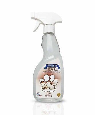 Fresh Pet Spray Cleaner Paw Friendly Disinfectant - 500ml Clean Cotton