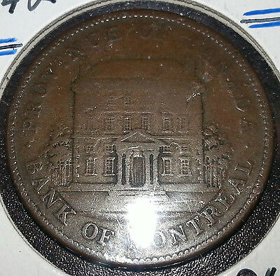 1842 Bank Of Montreal  Penny Bank Token Very Nice