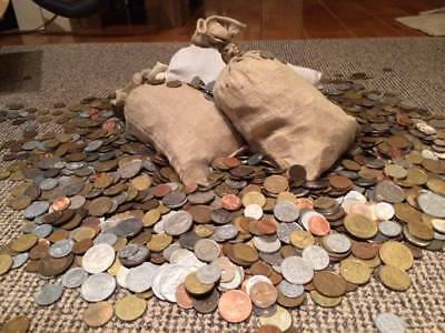 World Coins 9 Kg (19.8 Lbs) Worldwide Shipping   Great Mix Circulated Coins Lot