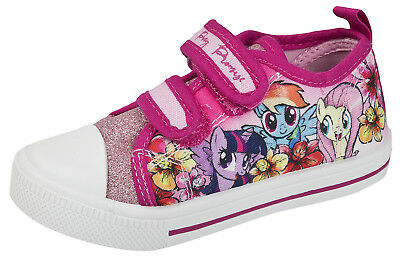 My Little Pony Glitter Canvas Pumps Girls Skate Plimsolls Summer Shoes Kids Size