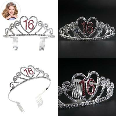 Birthday Party Rhinestone Crystal Tiara Crown - Sweet 16