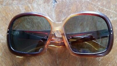 Genuine Vintage anchor logo sunglasses made in France retro 1960's 1970's chic