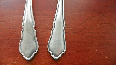 Set Of 2  England Epns  Super A1  Serving  Spoons   Silver Plate