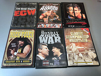 WWE WCW ECW  Lot 6 Wrestling DVDs Classic Championship Monday Night War Foley