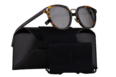 214c40861f Christian Dior Homme DiorTailoring1 Sunglasses Yellow Red Havana w/Silver  Mirror